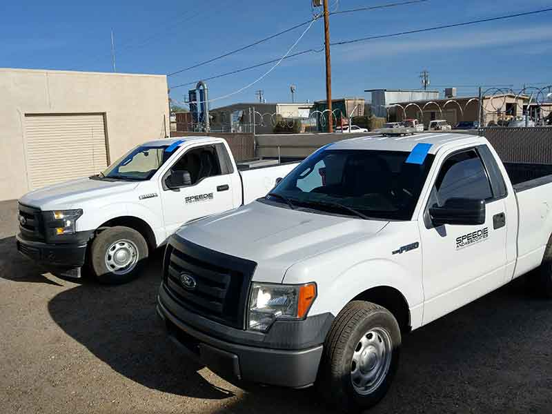 commercial work trucks glass replacement in tucson